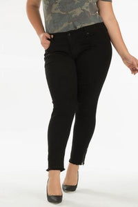 Curvy Girl (plus size) Black Denim with zipper ankles