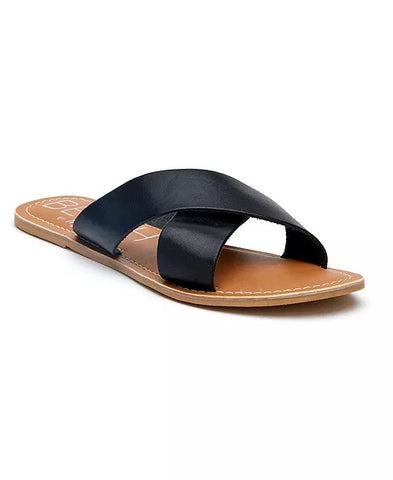 Black Leather Pebbles Sandal