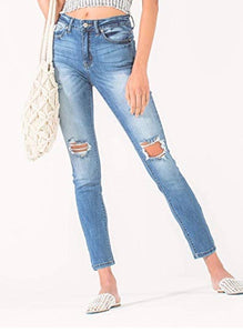 Darlin curvy girl distressed denim