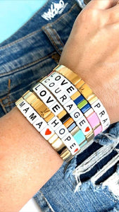 Stackable Inspiration bracelet