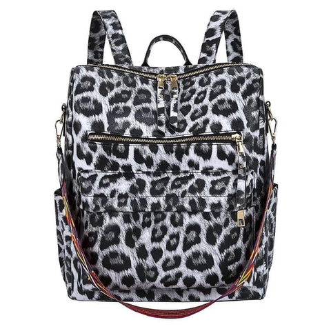 Animal print convertible backpack