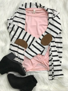 KIDS blush knotted top
