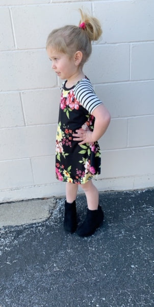 KIDS black floral dress