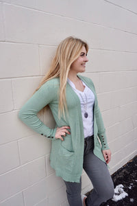 Mint to be in love cardigan