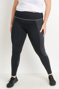 Curvy girl (plus size) black high waist striped print leggings!
