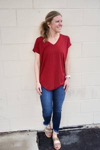 Radiant Red Basic Tee