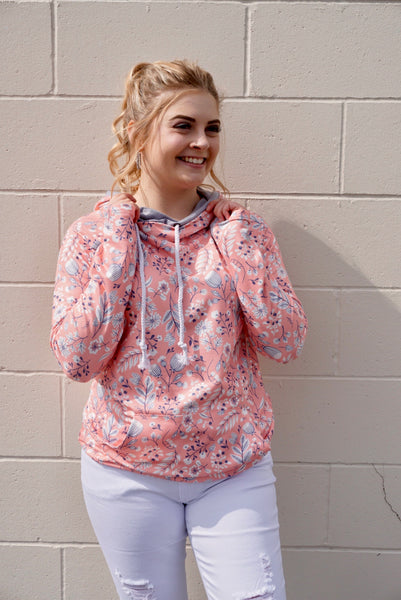 Spring floral double hoodie