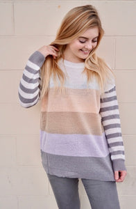 Violet Crush Striped Top
