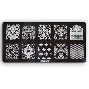Nail stamp plate - 023