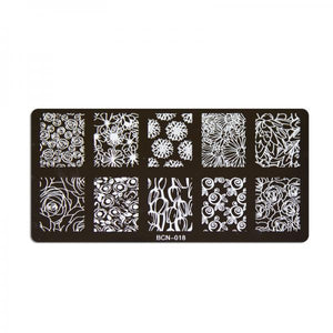 Nail stamp plate - 018