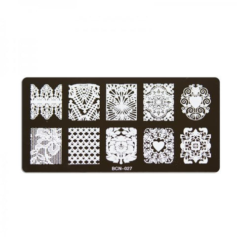 Nail stamp plate - 027