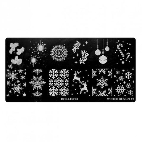 Nail stamp plate - Winter Design