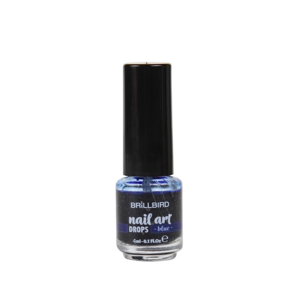 Ink Nail art drops - Blue