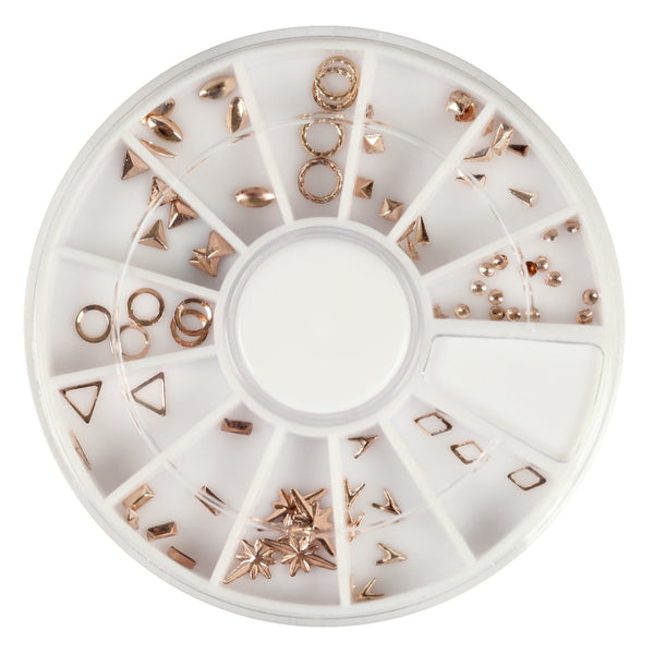 Rosegold mixed metal decorations