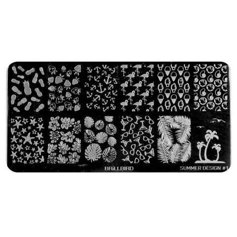 Nail stamp plate - Summer Design