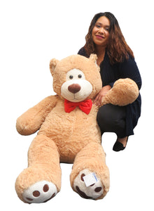 "Goffa 52"" Jumbo Bear with Bowtie (Beige)"
