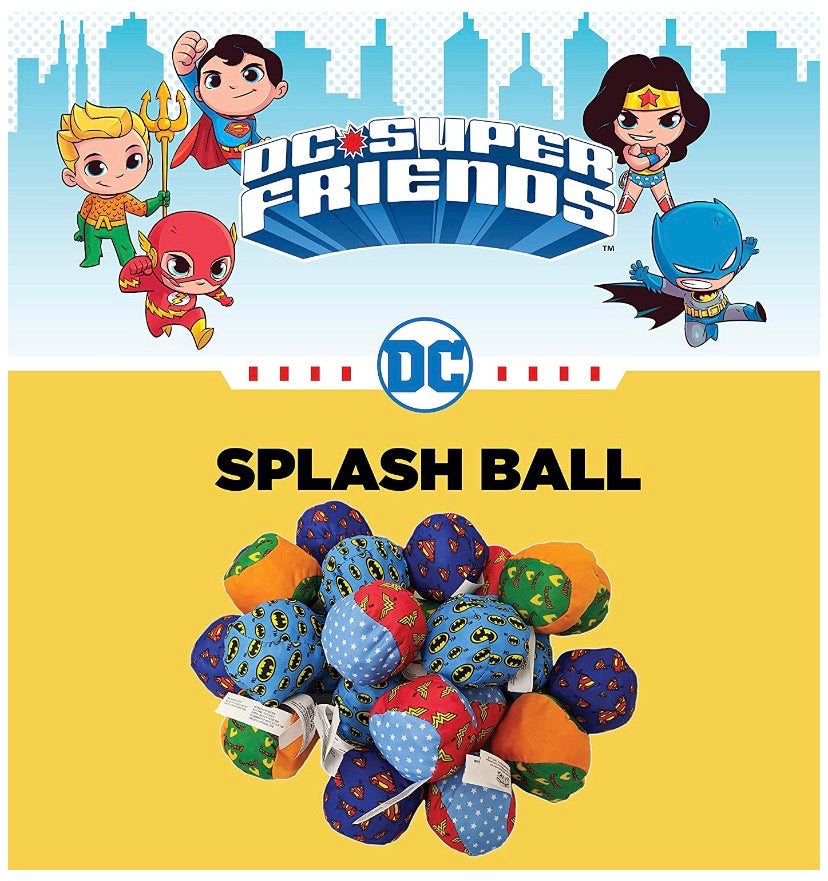 Officially Licensed DC Super Friends Splash Balls for Pool, Summer Beach Soaking Games and Fun Children Party Activities (24 Pack)