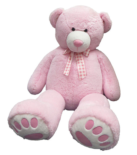 Giant Musical Pink Bear with Ribbon, 59