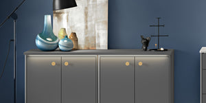 Copper handles for modern and classical kitchen
