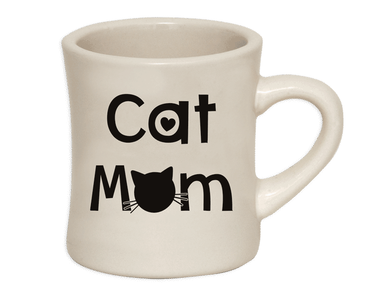 10oz Ivory Dinner - Cat Mom Mug