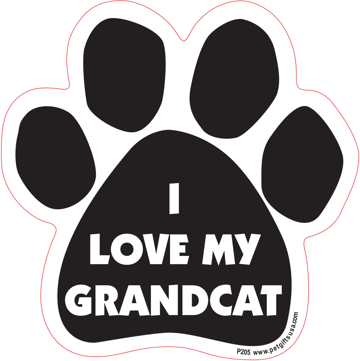 I Love My Grandcat- Car Magnet