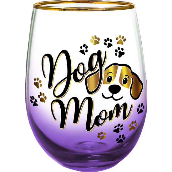 Dog Mom Stemless Glass