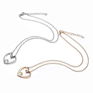 Heart with Paw Necklace