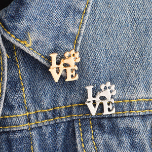 Love Paw Brooch Pin