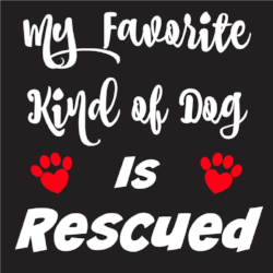 My Favorite Kind of Dog is Rescued Sticker