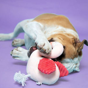Flamingo Plush Dog Toy