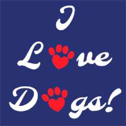 I Love Dogs! Sticker