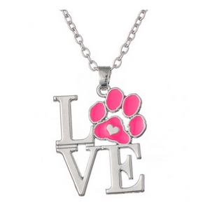 Love Paw Heart Necklace