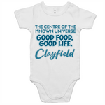Clayfield Centre Of The Known Universe - AS Colour Mini Me - Baby Onesie Romper