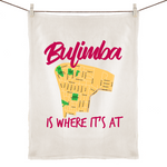 Bulimba Is Where It's At - 100% Linen Tea Towel