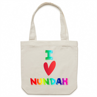 I Love Nundah - AS Colour - Carrie - Canvas Tote Bag