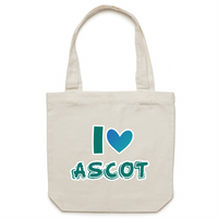 I Love Ascot - AS Colour - Carrie - Canvas Tote Bag