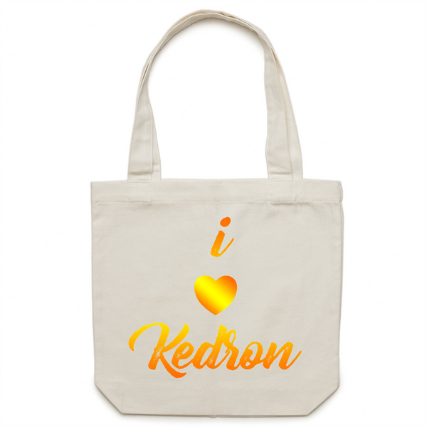 I Love Kedron - AS Colour - Carrie - Canvas Tote Bag