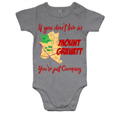 If You Don't Live In Mt Gravatt You're Just Camping - AS Colour Mini Me - Baby Onesie Romper