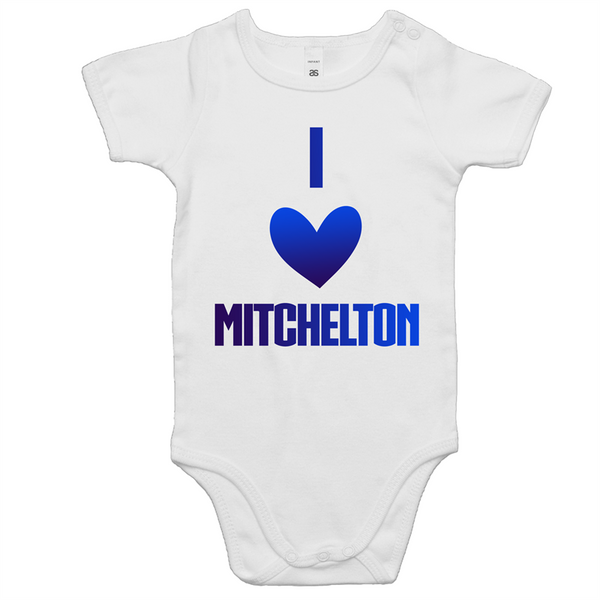 I Love Mitchelton - AS Colour Mini Me - Baby Onesie Romper