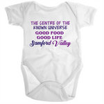 Samford Valley Centre Of The Known Universe - Ramo - Organic Baby Romper Onesie