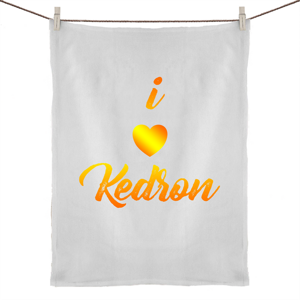 I Love Kedron - 50% Linen 50% Cotton Tea Towel