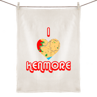 I Love Kenmore - 100% Linen Tea Towel