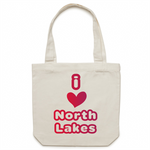 I Love North Lakes - AS Colour - Carrie - Canvas Tote Bag