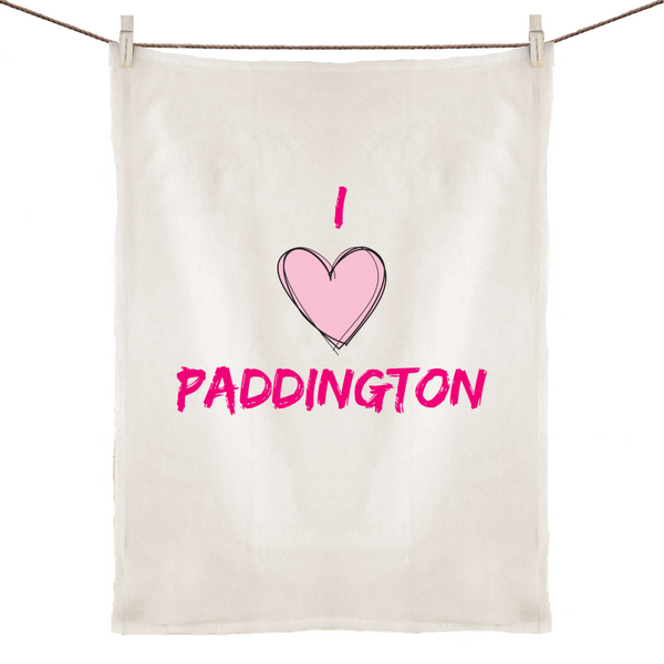 I Love Paddington - 100% Linen Tea Towel