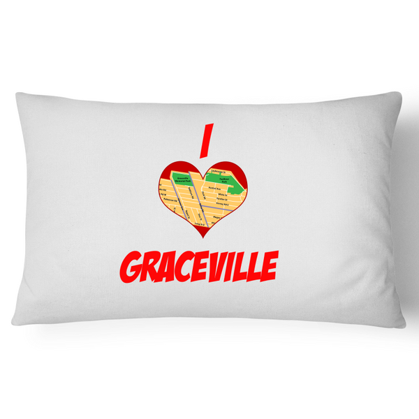 I Love Graceville - Pillow Case - 100% Cotton
