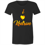 I Love Kedron - AS Colour Wafer - Womens Crew T-Shirt