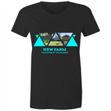 New Farm Centre Of the Universe - AS Colour Wafer - Womens Crew T-Shirt