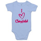 I Love Clayfield - AS Colour Mini Me - Baby Onesie Romper
