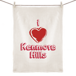 I Love Kenmore Hills - 100% Linen Tea Towel