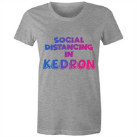Social Distancing in Kedron - AS Colour Wafer - Womens Crew T-Shirt